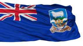 Falkland Islands Flag som isoleras på vit stock illustrationer