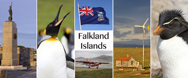 The Falkland Islands - Islas Malvinas.  Stock Images