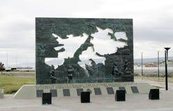 Falkland Islands islasmalvinas monument till Arkivfoto