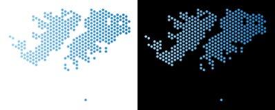 Falkland Islands Map Hexagonal Abstraction ilustração stock