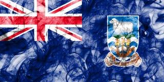 Falkland Islands smoke flag, British Overseas Territories, Brita. In dependent territory flag Royalty Free Stock Photo
