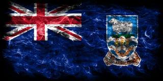 Falkland Islands smoke flag, British Overseas Territories, Brita. In dependent territory flag Stock Photo