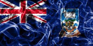 Falkland Islands smoke flag, British Overseas Territories, Brita. In dependent territory flag Royalty Free Stock Photography