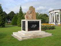 Falklands Conflict memorial, Cardiff, UK. This memorial, near the Welsh National War Memorial in Alexandra Gardens, was unveiled and consecrated in 2007. The Stock Image