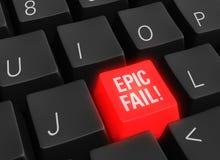 Fall épico en tecnología Foto de archivo