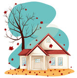 Fall. Illustration of a house during fall Royalty Free Stock Photo
