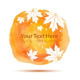 Fall Abstract Background on Watercolor Texture Royalty Free Stock Image
