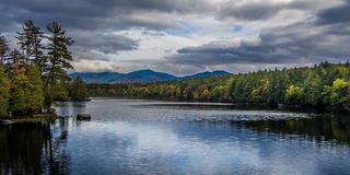 Fall in Adirondack-Berge Stockfotografie