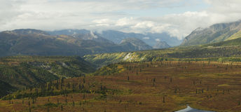 Fall alaskan panorama Royalty Free Stock Photos