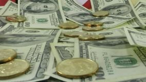 The fall of American currency - Financial concept stock video footage