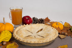 Fall Apple Pie Stock Photo