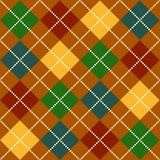 Fall Argyle Pattern Stock Images