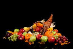 Fall arrangement of fruits and vegetables Royalty Free Stock Photos