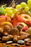 Fall arrangement with fruits and vegetables Royalty Free Stock Photos