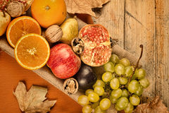 Fall asssortment fruit still life Stock Photography