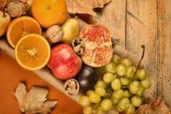 Fall asssortment fruit still life Stock Photography