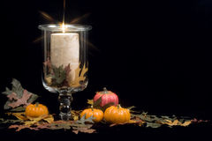 Fall - Autumn Candle Royalty Free Stock Image