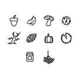 Fall and autumn icon set Royalty Free Stock Images