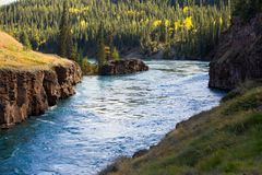 Miles Canyon, Yukon River, Whitehorse, Yukon Territories, Canada royalty free stock photography