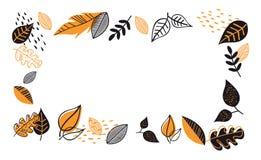 Fall, Autumn season vector illustration, banner, backgound. Hello autumn royalty free illustration