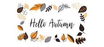 Fall, Autumn season vector illustration, banner, background. Hello autumn banner vector illustration
