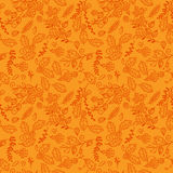 Fall, Autumn or Thanksgiving Vector Flower Pattern. Seamless and Tileable Royalty Free Stock Images