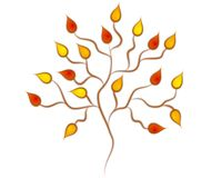 Fall Autumn Tree Clip Art stock illustration