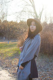 Fall,autumn young beautiful asian woman 13 Stock Images