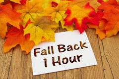 Fall Back 1 Hour Royalty Free Stock Photo