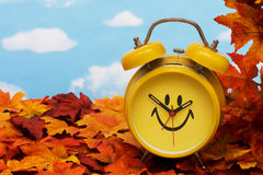Fall Back Time Change stock photography