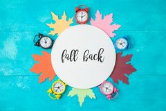 Fall back time change concept. royalty free stock photo