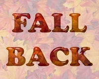Fall Back Time Change Royalty Free Stock Photos