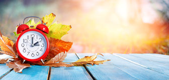 Fall Back Time - Daylight Savings End. Return To Winter Time Stock Image