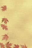 Fall background. Autumn background with falling leaves stock illustration