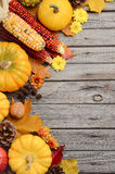 Fall background with pumpkins Stock Photo