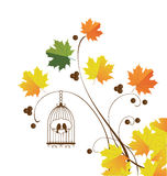 Fall Background. Vector illustration of thanksgiving fall background Stock Photo