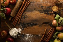 Fall baking concept background royalty free stock images