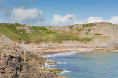 Fall Bay cove The Gower peninsula South Wales UK near to Rhossili beach and Mewslade Bay Stock Photo
