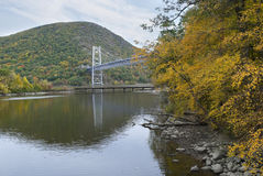 Fall Bear Mountain Bridge Royalty Free Stock Photography