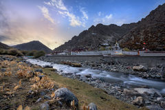 Fall. The beautiful landscape in Tibet Royalty Free Stock Images