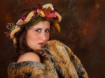 Fall beauty with brown fur Royalty Free Stock Photos