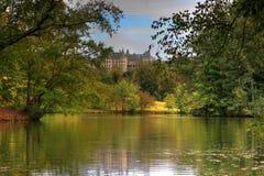 Fall Begins At The Biltmore Lagoon Royalty Free Stock Photos