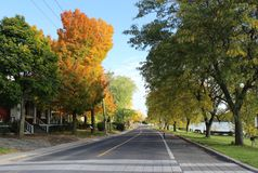 Fall in Beloeil, Quebec royalty free stock image
