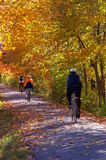 A Fall Bike Trip. A family goes for an autumn bike ride Stock Images