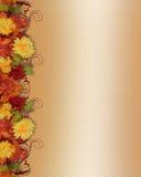 Fall-Blatt-und Blumen-Rand