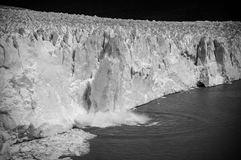 Fall block of ice stock photography