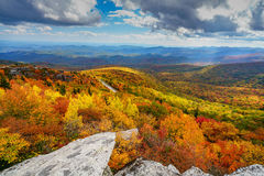 Fall on the Blue Ridge Parkway royalty free stock photo