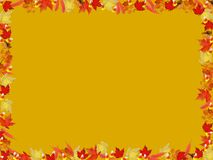 Autumn leaves and candy corn border Stock Photos