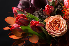 Free Fall Bouquet At Black Background Royalty Free Stock Photos - 98867018