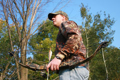 Fall bow hunter Royalty Free Stock Images
